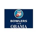BOWLERS FOR OBAMA Rectangle Magnet