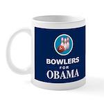 BOWLERS FOR OBAMA Dark Mug