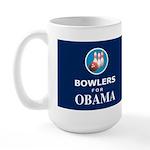 BOWLERS FOR OBAMA Dark Large Mug