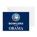 BOWLERS FOR OBAMA Greeting Cards (Pk of 20)