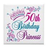 50th birthday princess Coasters