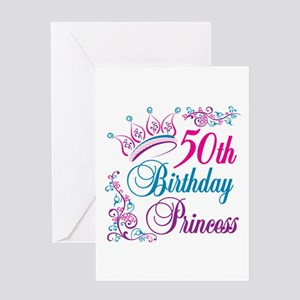50th Birthday Princess Greeting Card