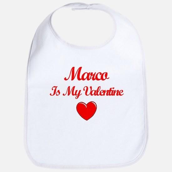 Marco Is My Valentine Bib