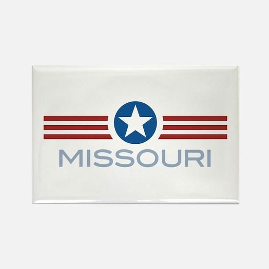 Star Stripes Missouri Rectangle Magnet