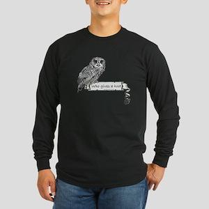 Hoot Owl Long Sleeve Dark T-Shirt