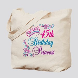 45th Birthday Princess Tote Bag