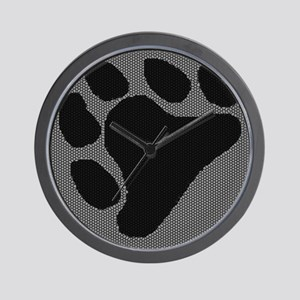 BLK BEAR PAW ON BLK/WHITE Wall Clock