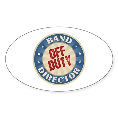 Off Duty Band Director Oval Sticker (50 pk)