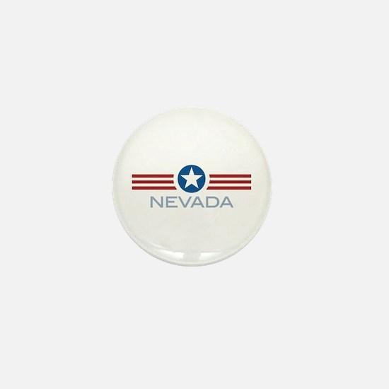 Star Stripes Nevada Mini Button