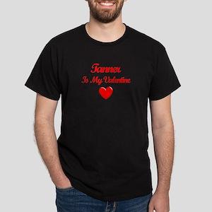 Tanner Is My Valentine Dark T-Shirt