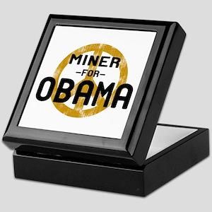 Miner for Obama Keepsake Box