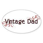 Vintage Dad Oval Sticker (10 pk)