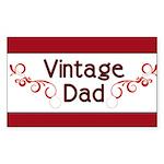 Vintage Dad Rectangle Sticker 10 pk)
