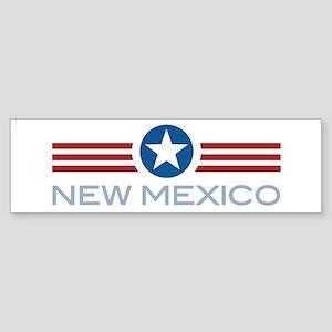 Star Stripes New Mexico Bumper Sticker