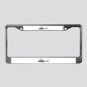 Lynx Helicopter License Plate Frame