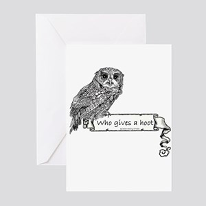 Hoot Owl Greeting Cards (Pk of 20)