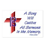 Song/Sermon Alto Clef Postcards (Package of 8)