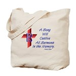 Song/Sermon Alto Clef Tote Bag