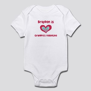 Brayden Is Grandpa's Valentin Infant Bodysuit