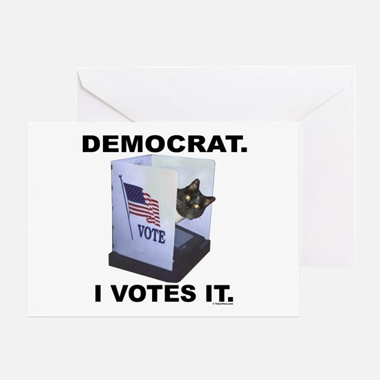 LOLCAT Votes Democrat Greeting Card