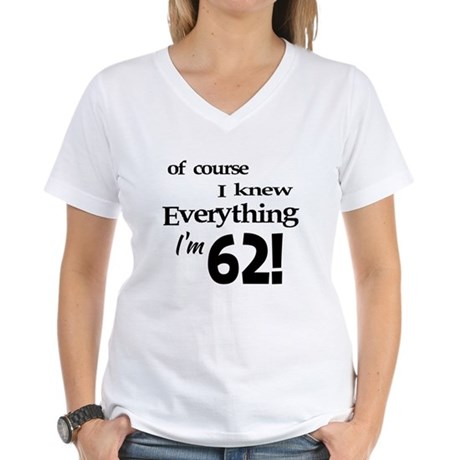 Of Course I Knew Everything Women's V-Neck T-Shirt