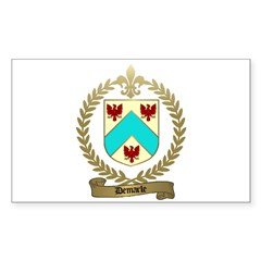 DEMARLE Family Crest Rectangle Decal