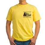 Ship and Travel By Rail Yellow T-Shirt