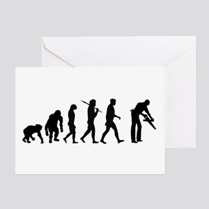 Carpenter Evolution Greeting Cards