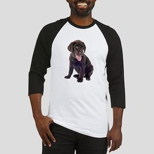 Chocolate, Lab, puppy Baseball Jersey