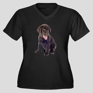 Chocolate, Lab, puppy Plus Size T-Shirt