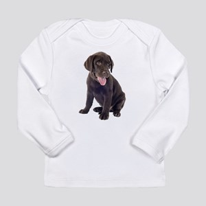 Chocolate, Lab, puppy Long Sleeve T-Shirt