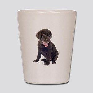 Chocolate, Lab, puppy Shot Glass