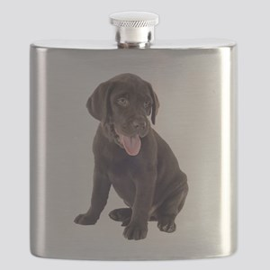 Chocolate, Lab, puppy Flask