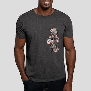 Custom Soul Pink Flower Dark T-Shirt
