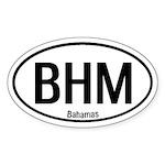 Bahamas International Oval Sticker