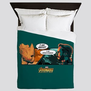 Avengers Infinity War Groot & Captain Queen Duvet