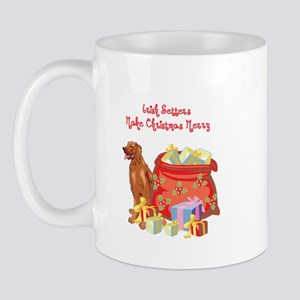 Merry Christmas Irish Setter Mug