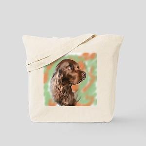 field spaniel portrait Tote Bag