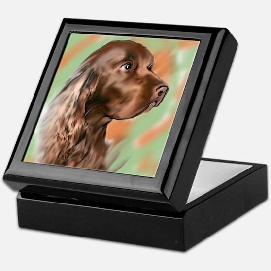field spaniel portrait Keepsake Box