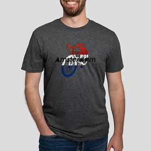 Amsterdam Bicycle Mens Tri-blend T-Shirt