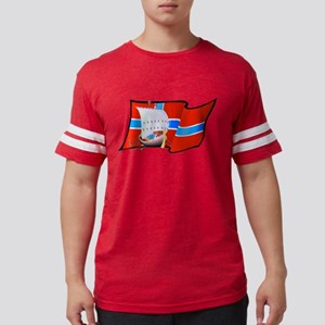 Norwegian Viking Ship Mens Football Shirt