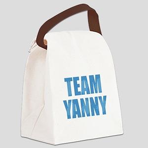 Team Yanny Blue Canvas Lunch Bag