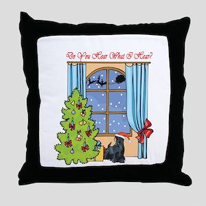 Scottie Christmas Throw Pillow