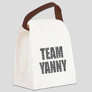 Team Yanny Dark Canvas Lunch Bag