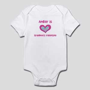 Amber is Grandma's Valentine Infant Bodysuit