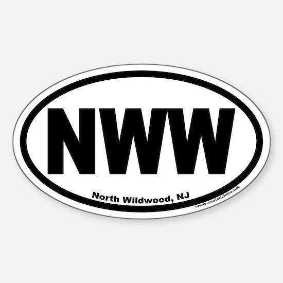 North Wildwood, NJ NWW Euro Oval Decal