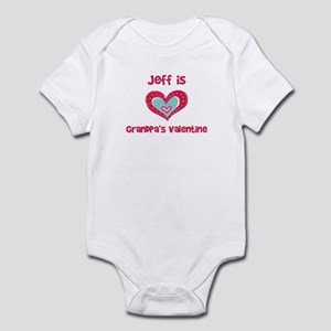 Jeff is Grandpa's Valentine Infant Bodysuit
