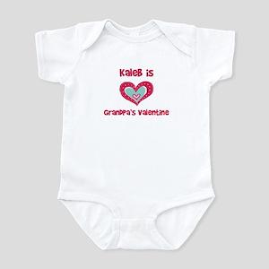 Kaleb is Grandpa's Valentine Infant Bodysuit