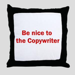 Copywriter Throw Pillow