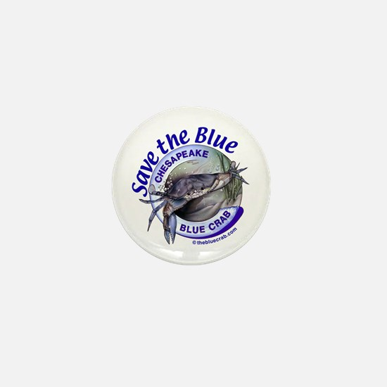 """Save the Blue"" Mini Button"